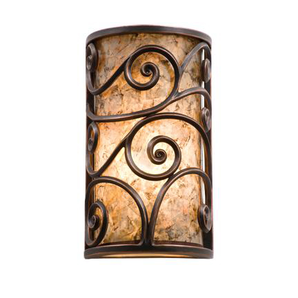 Kalco 5416AC/MICA WINDSOR Collection WALL SCONCE in Antique Copper