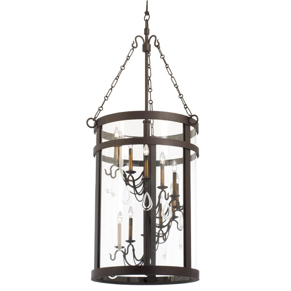 Kalco 5804BZ Morris 12 Light  Foyer Lantern