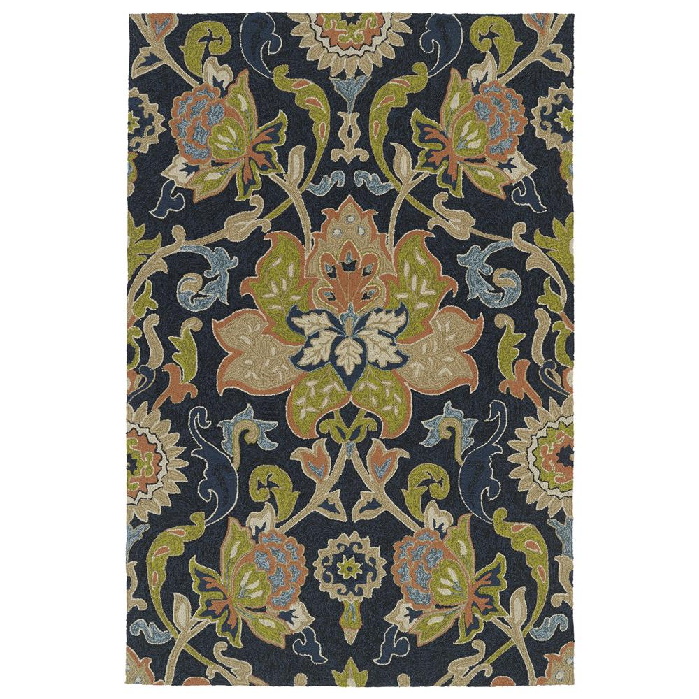Kaleen 2042-22-23 Home and Porch Collection Rectangle Rug in Navy