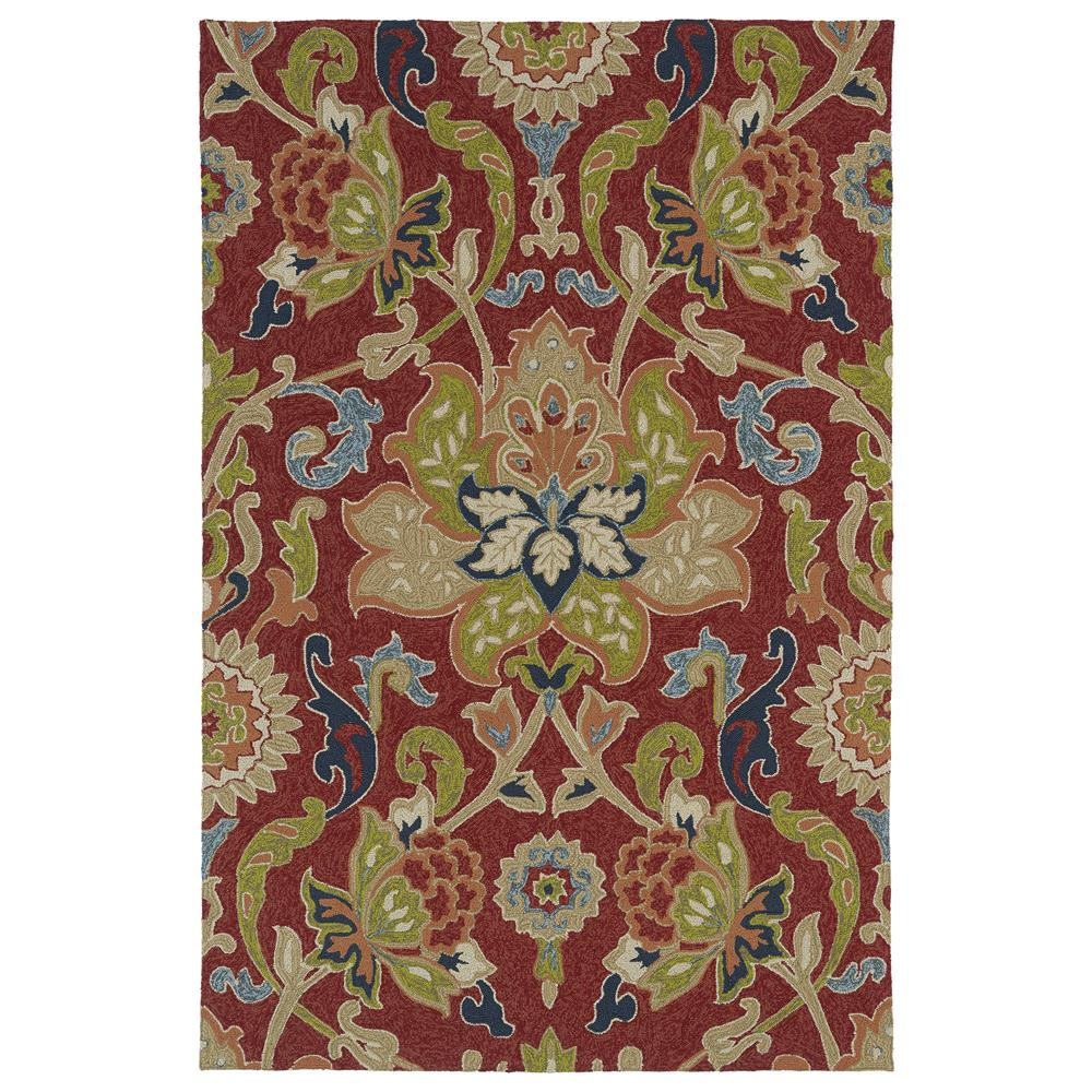 Kaleen 2042-25-23 Home and Porch Collection Rectangle Rug in Red