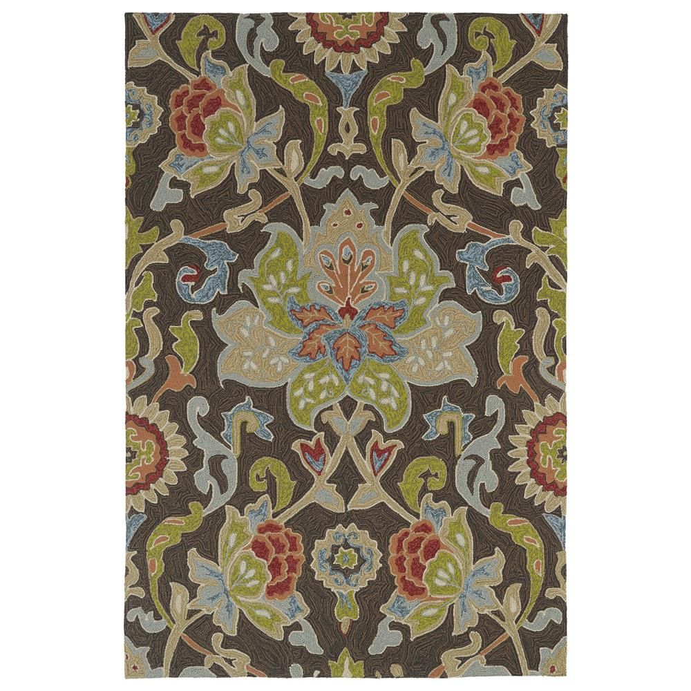 Kaleen 2042-40-23 Home and Porch Collection Rectangle Rug in Chocolate