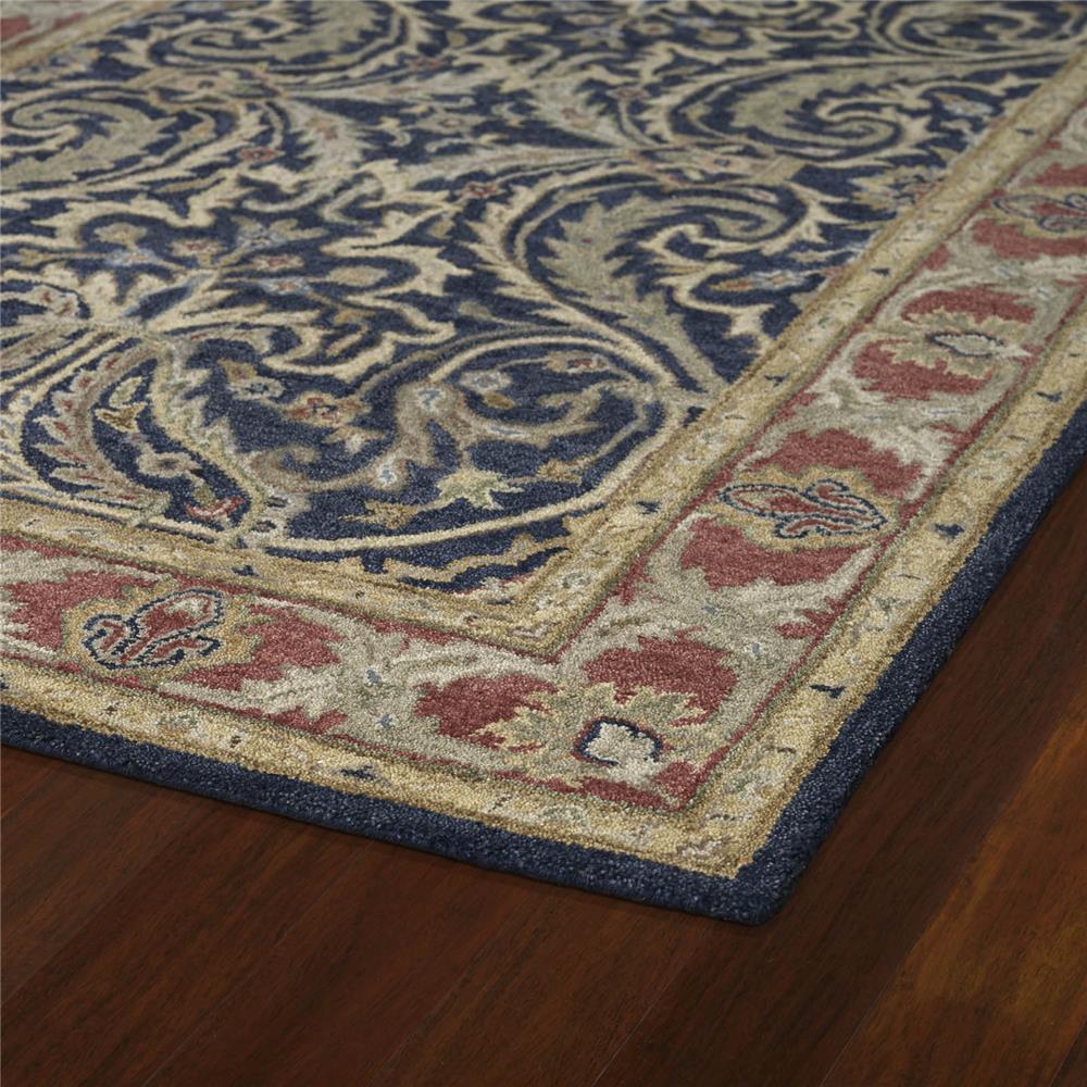 Kaleen 4050-17-23 Solomon Collection Blue Rectangle Rug