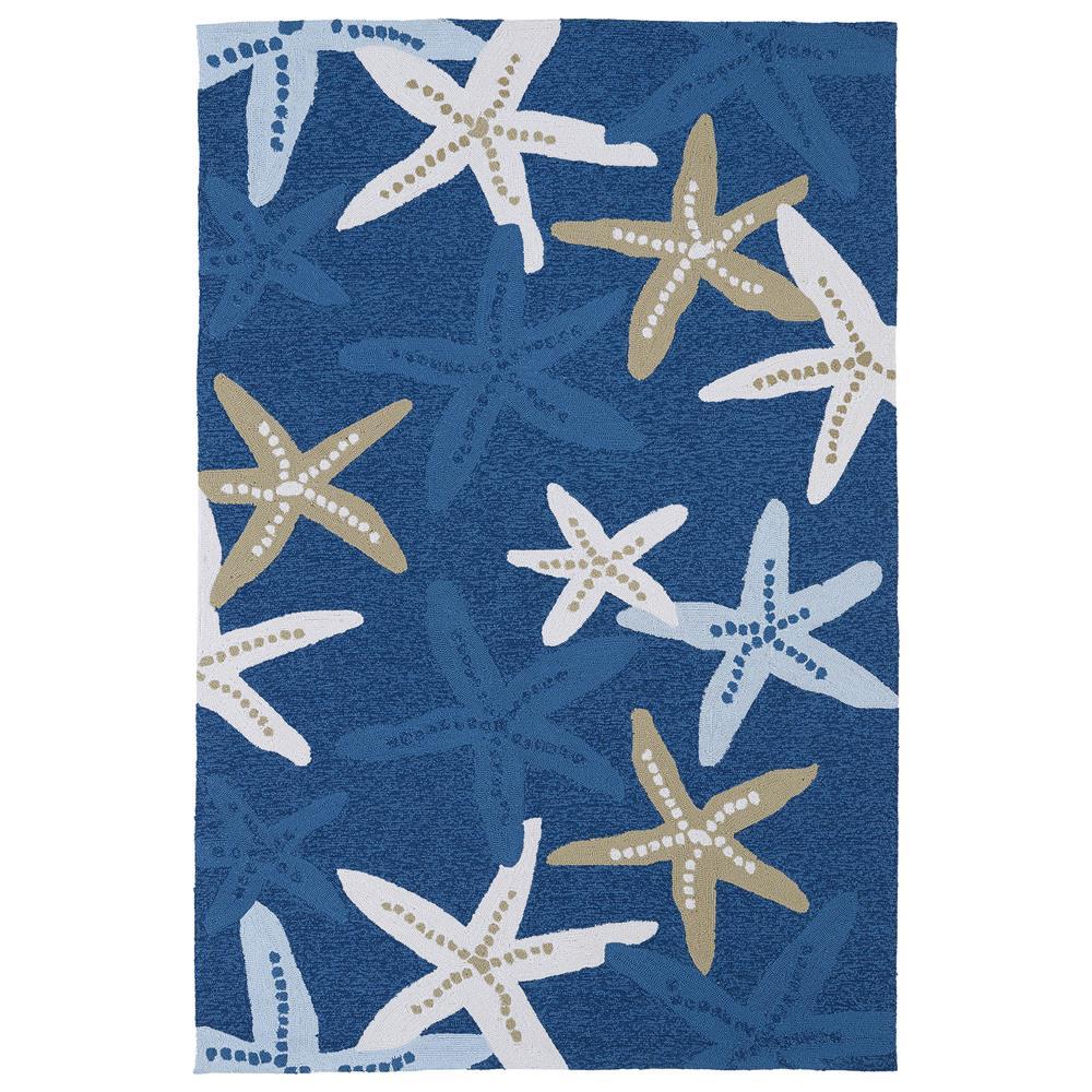 Kaleen MAT04-17-23 Matira Collection Rectangle Rug in Blue