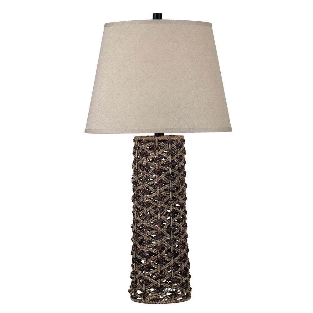 Kenroy Home 20974 Jakarta Table Lamp in Light and Dark Rope Finish