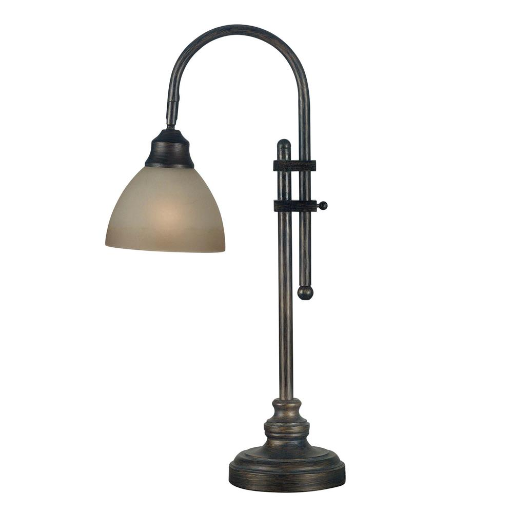 Kenroy Home 20994BH Callahan Desk Lamp in Bronze Heritage Finish