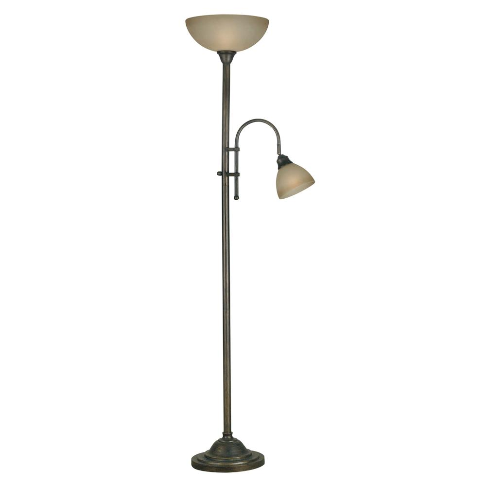 Kenroy Home 20995BH Callahan Torchiere in Bronze Heritage Finish