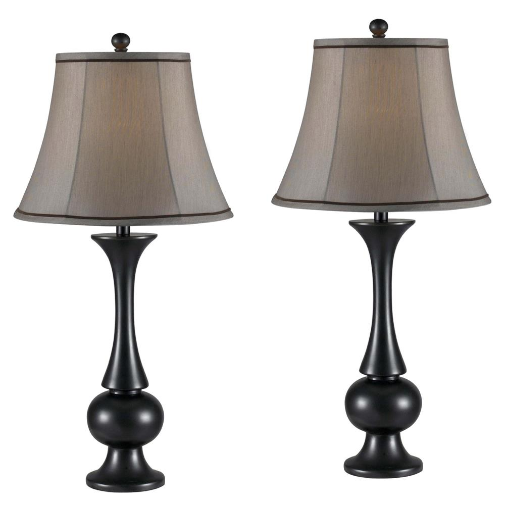 Kenroy Home 21059MBZ Abbott 2-Pack Table Lamp in Metallic Bronze Finish
