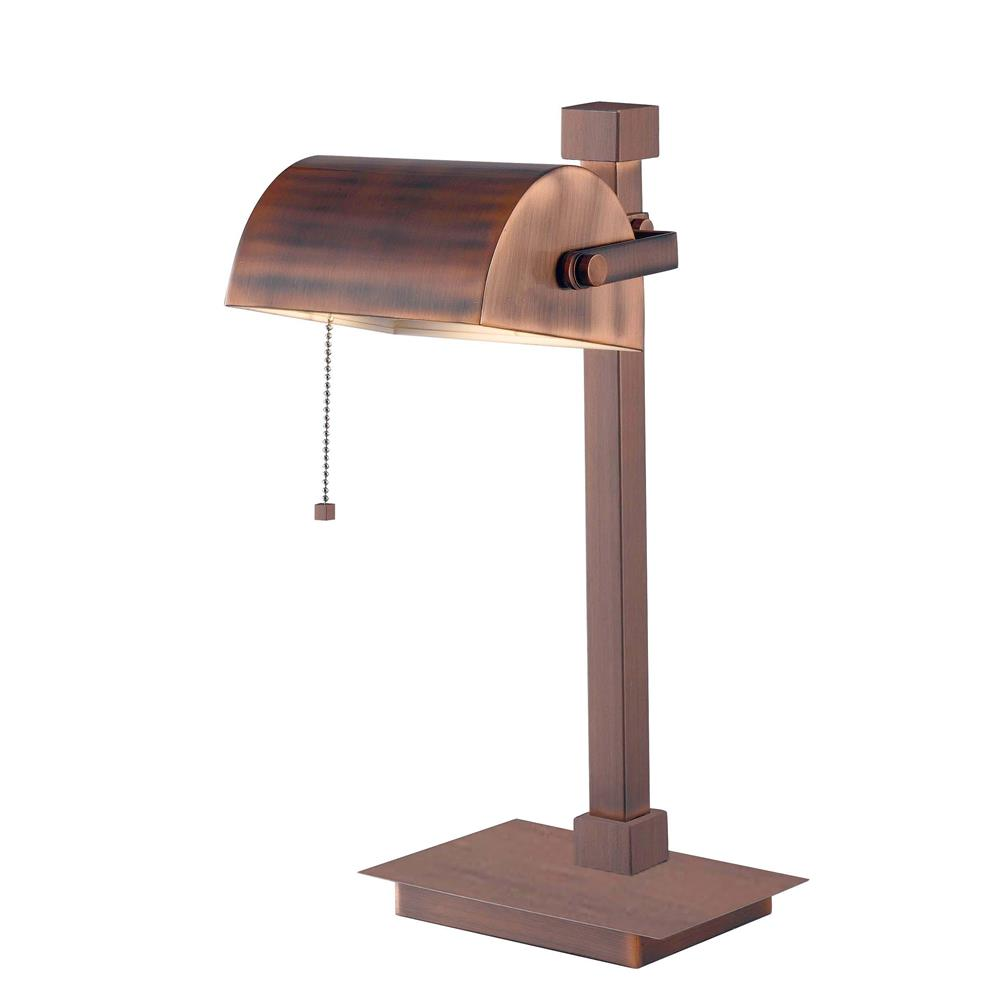 Kenroy Home 32008VC Welker Desk Lamp in Vintage Copper Finish