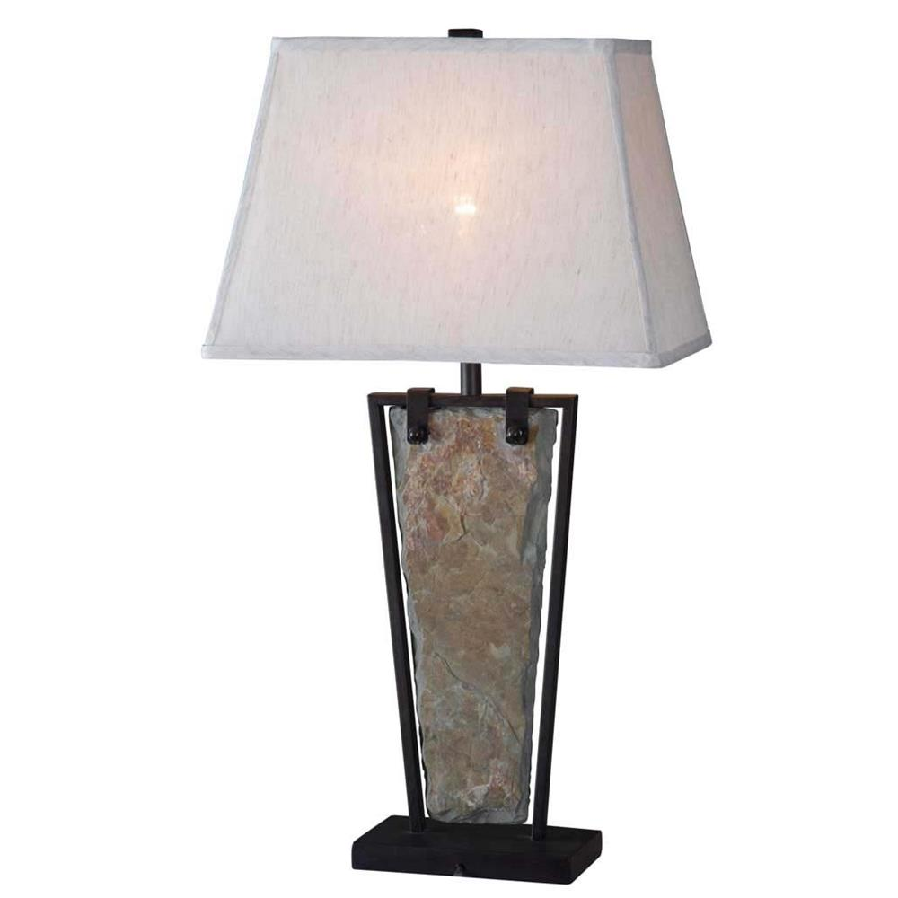 Kenroy Home 32227SL Free Fall Table Lamp in Natural Slate Finish