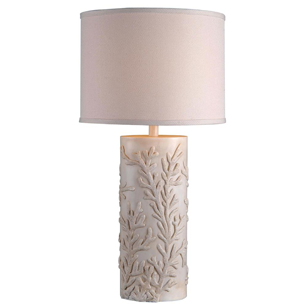 Kenroy Home 32267AWH Reef Table Lamp in Antique White Finish