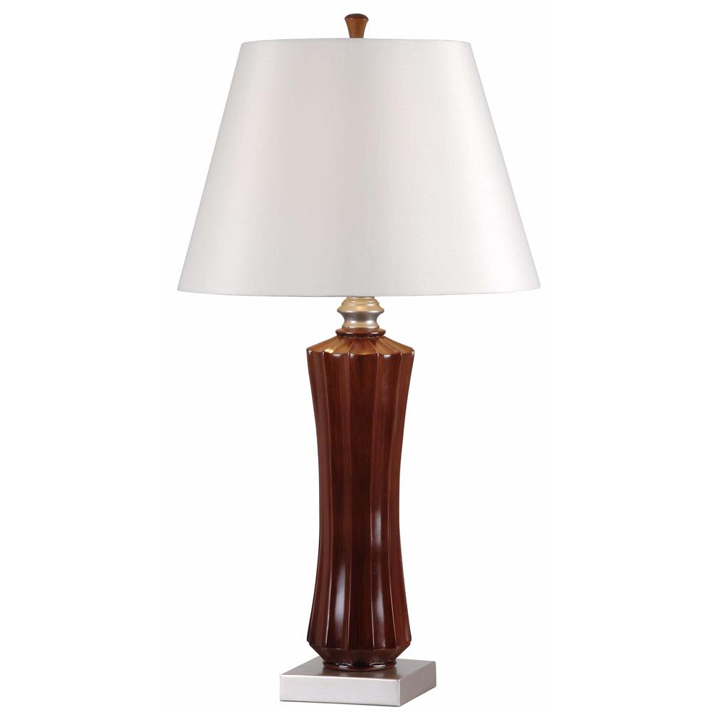 Kenroy Home 32421MAH Hoffman 2 Pack Table Lamp in Mahogany Finish