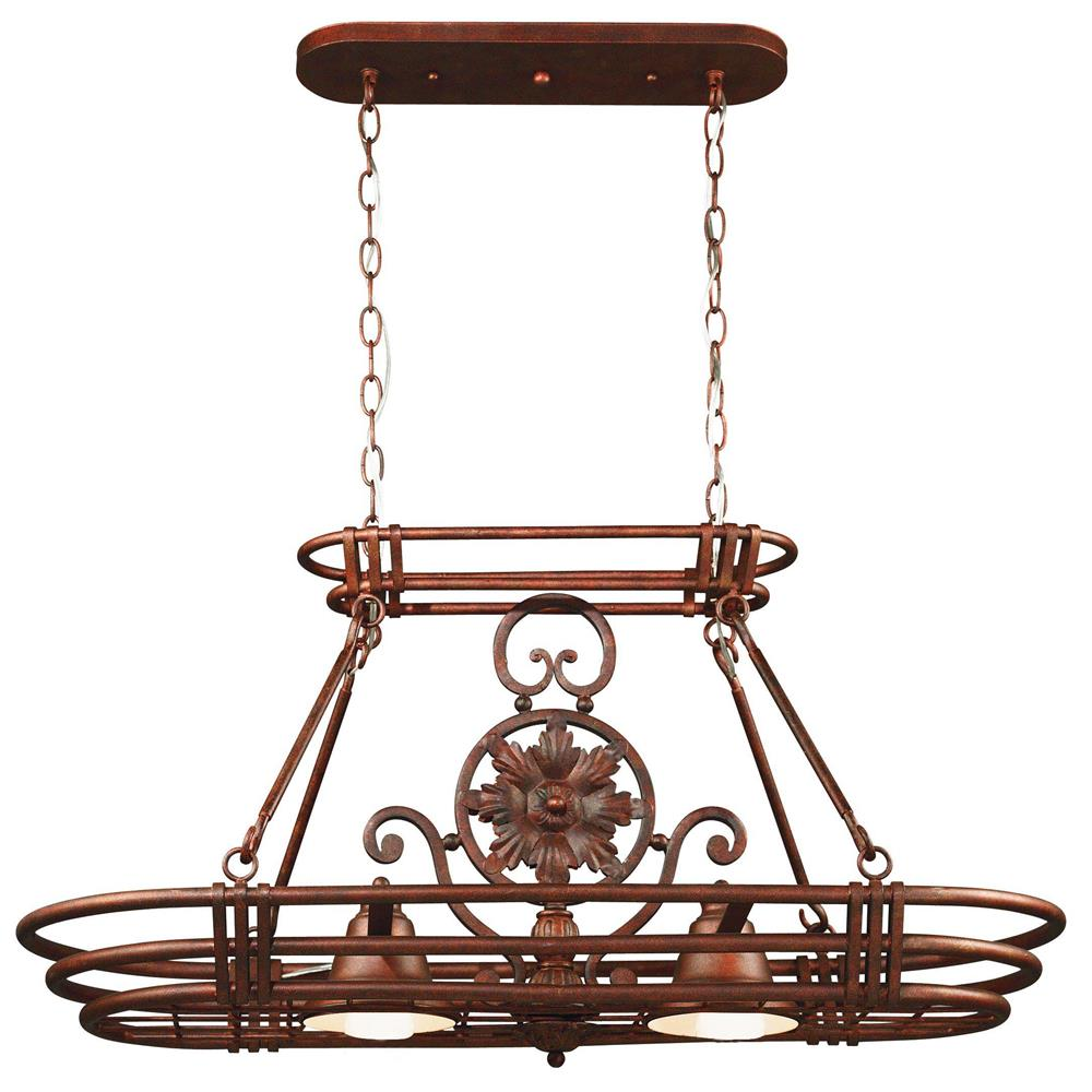 Kenroy Home 90304GC Dorada 2 Light Pot Rack in Gilded Copper Finish