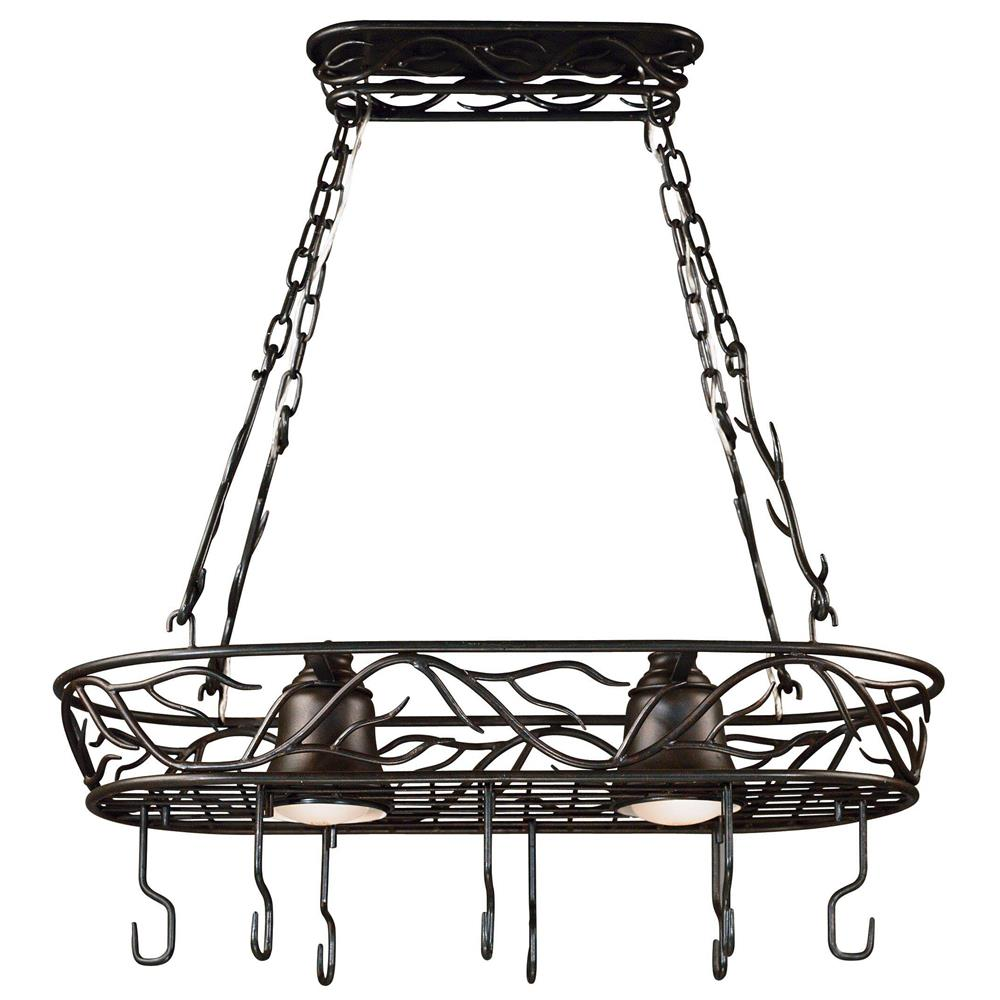 Kenroy Home 90308BRZ Twigs 2 Light Pot Rack in Bronze Finish