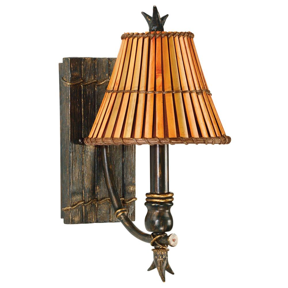 Kenroy Home 90451BH Kwai 1 Light Wall Sconce In Bronze Heritage Finish