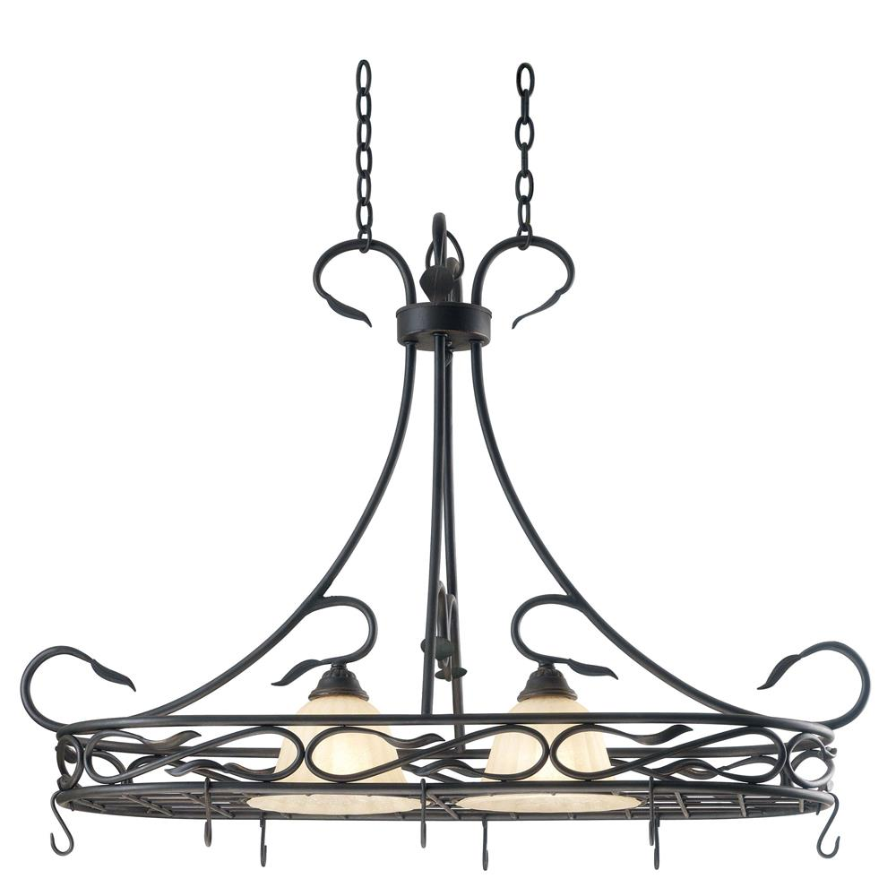 Kenroy Home 91562RBRZ Countryside 2 Light Pot Rack in Royal Bronze Finish