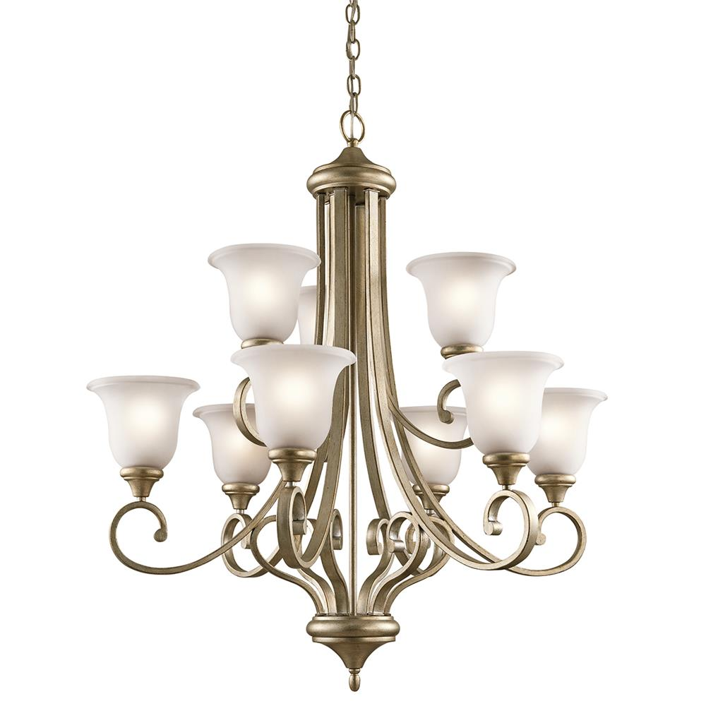 Kichler 43159SGD Sterling Gold Chandelier 9Lt