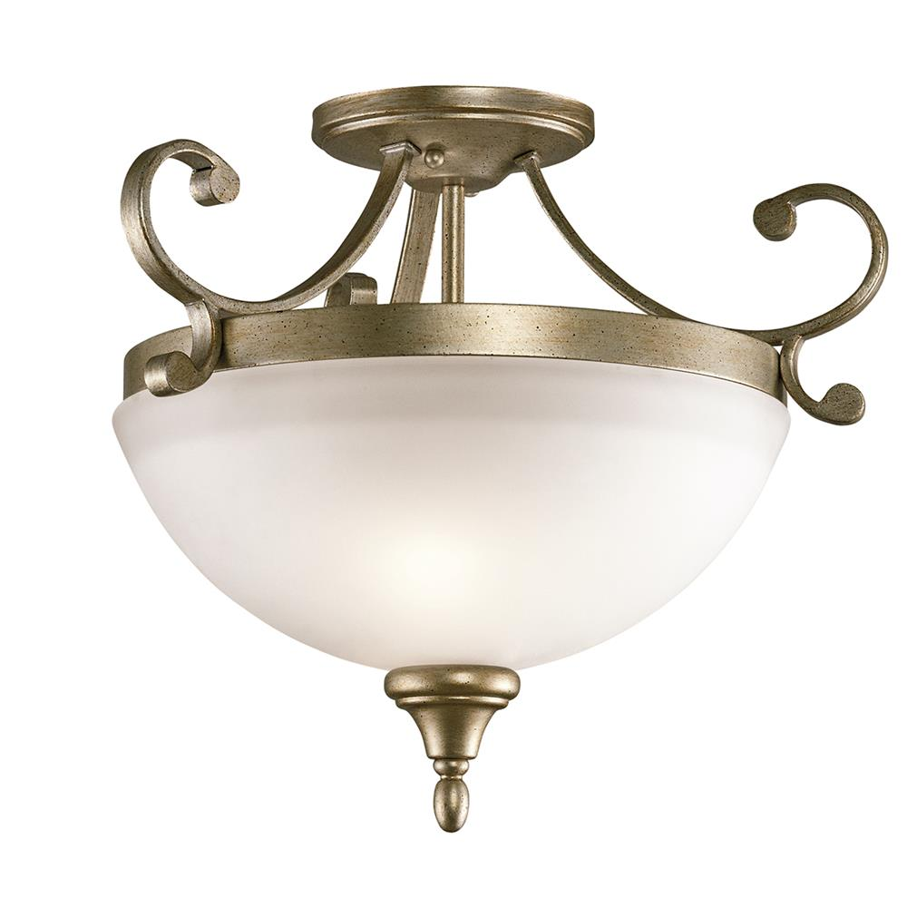 Kichler 43169SGD Sterling Gold Semi Flush 2Lt