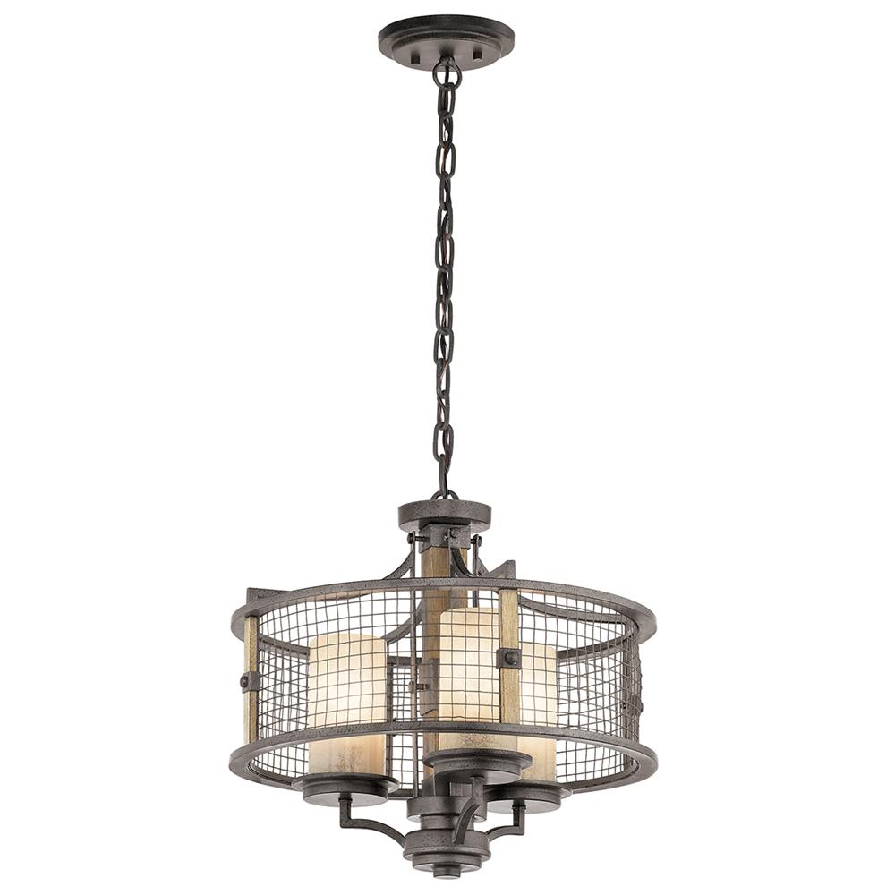 Kichler 43581AVI Anvil Iron Chandelier/Semi Flush 3Lt