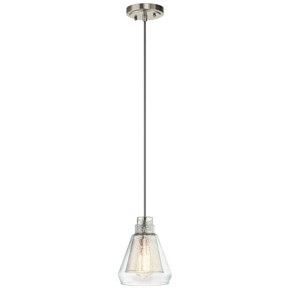 Kichler 43624NI Brushed Nickel Mini Pendant 1Lt
