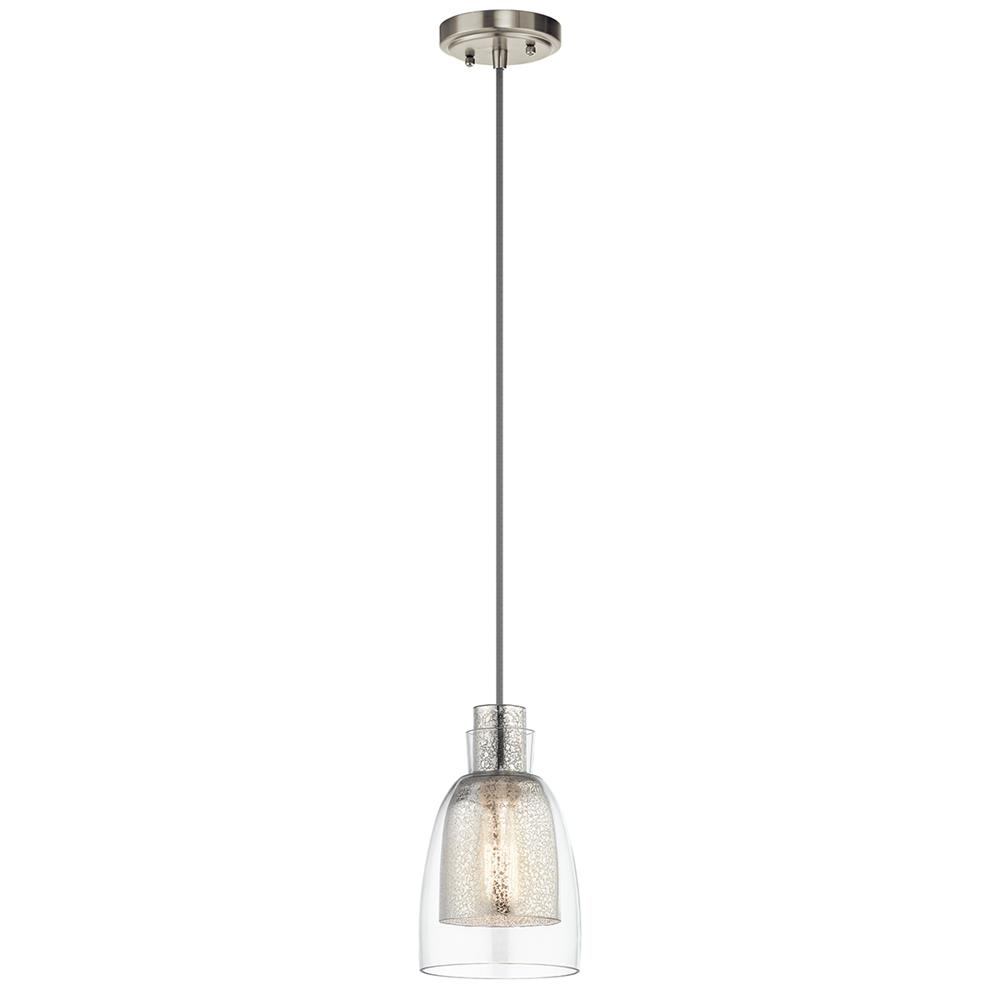Kichler 43625NI Brushed Nickel Mini Pendant 1Lt