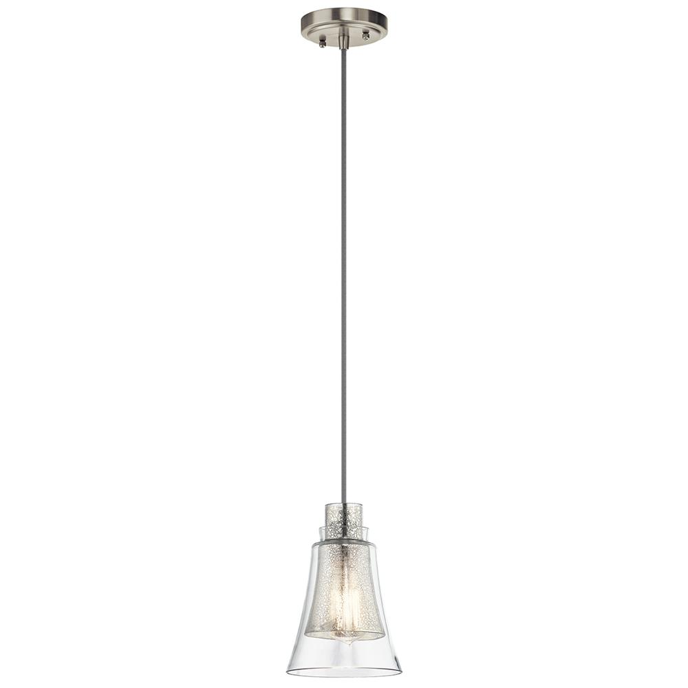 Kichler 43629NI Brushed Nickel Mini Pendant 1Lt