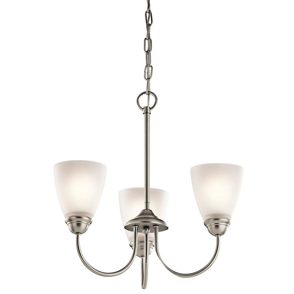 Kichler 43637NI Brushed Nickel Mini Chandelier 3Lt