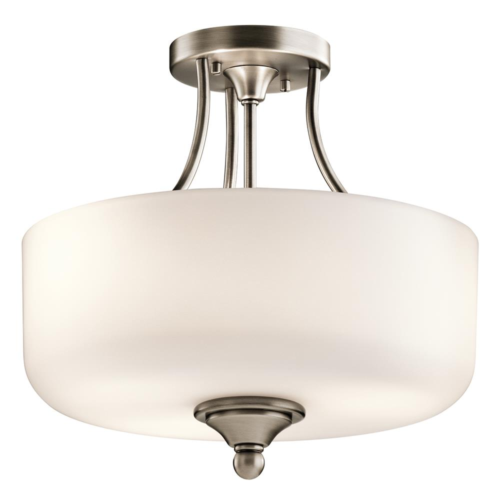 Kichler 43655AP Antique Pewter Semi Flush 2Lt
