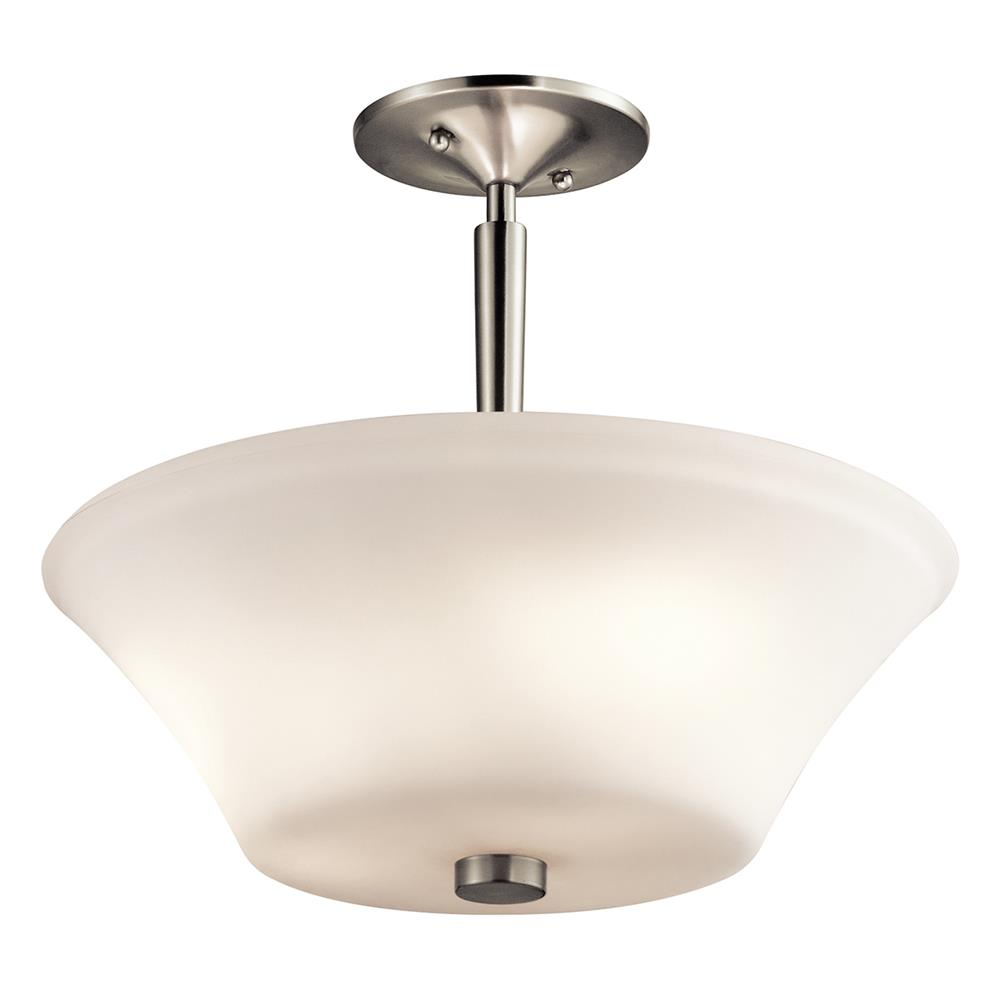 Kichler 43669NI Brushed Nickel Semi Flush 3Lt