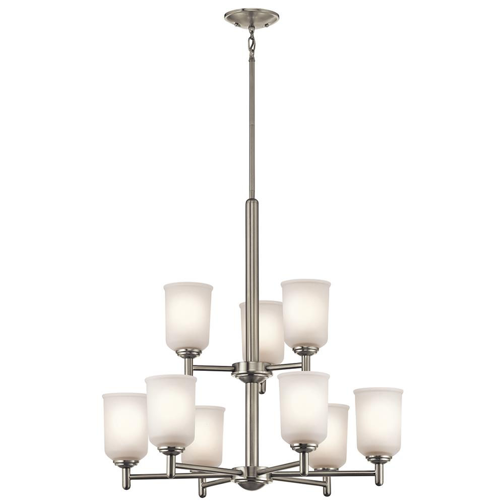 Kichler 43672NI Brushed Nickel Chandelier 9Lt
