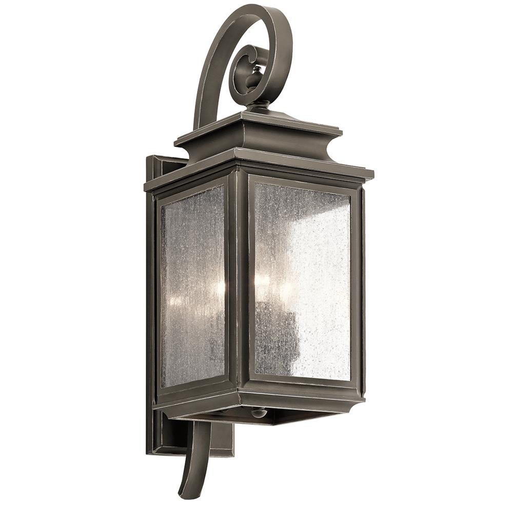 Kichler 49502OZ Olde Bronze Outdoor Wall 3Lt