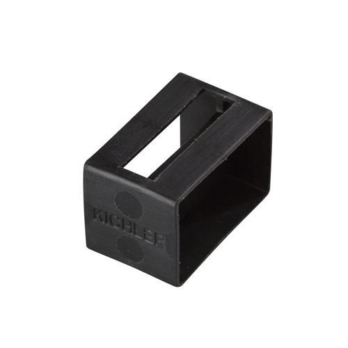 Kichler 10176BK Tape Light U Track End Cap in Black Material (Not Painted)