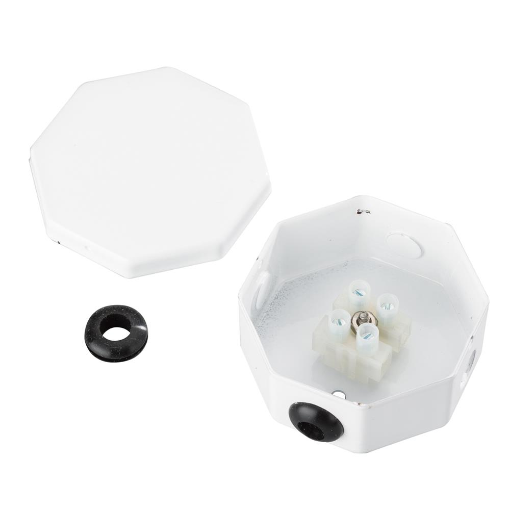 KICHLER 10189WH Splice Box Assembly in  White Material (Not Painted)