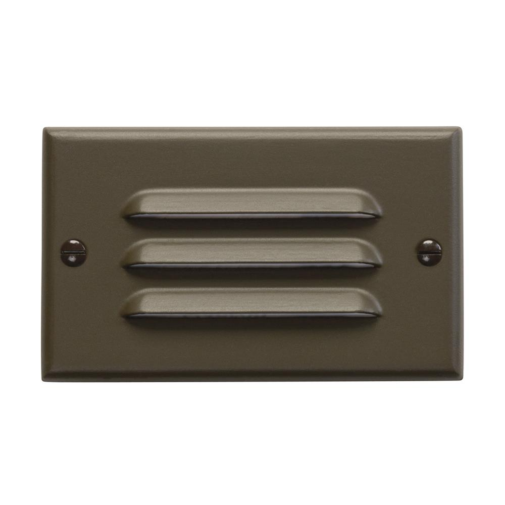 Kichler 12600AZ LED Step Light Horiz. Louver in Architectural Bronze