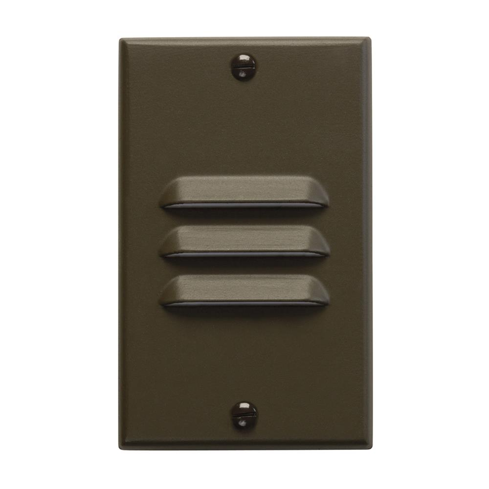 Kichler 12606AZ LED Step Light Vertical Louver in Architectural Bronze