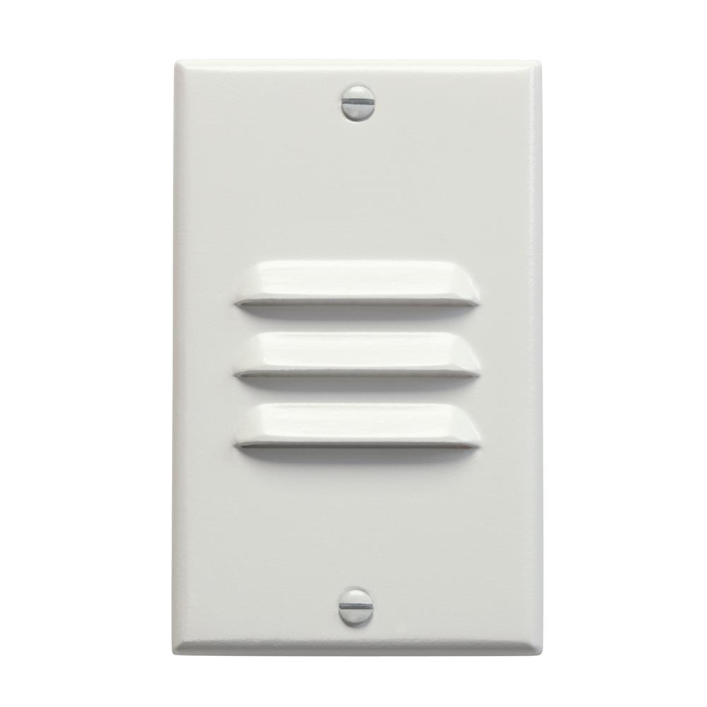 Kichler 12606WH LED Step Light Vertical Louver in White