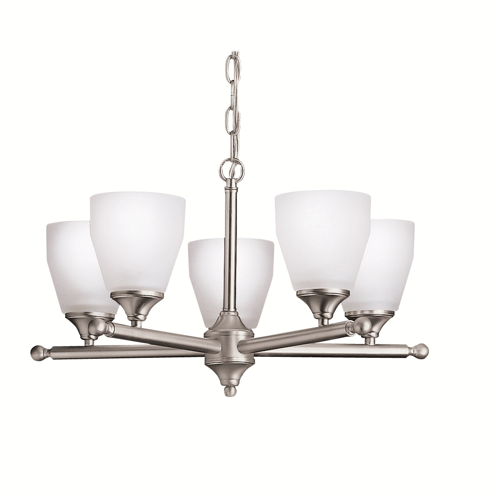 Kichler BUILDER 1748NI Chandelier 5 Lt in Brushed Nickel