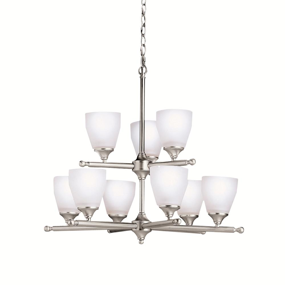 Kichler BUILDER 1749NI Chandelier 9 Lt in Brushed Nickel