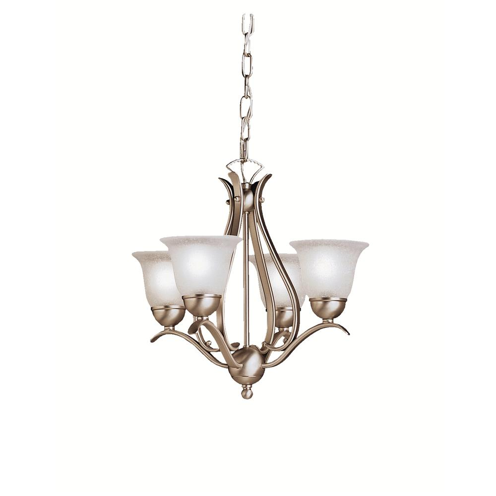 Kichler BUILDER 2019NI Mini Chandelier 4 Lt in Brushed Nickel