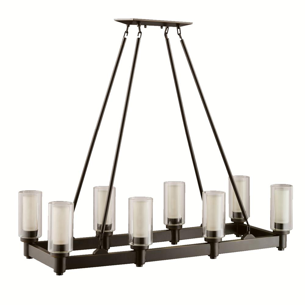 Kichler 2943OZ Chandelier Linear 8 Lt in Olde Bronze