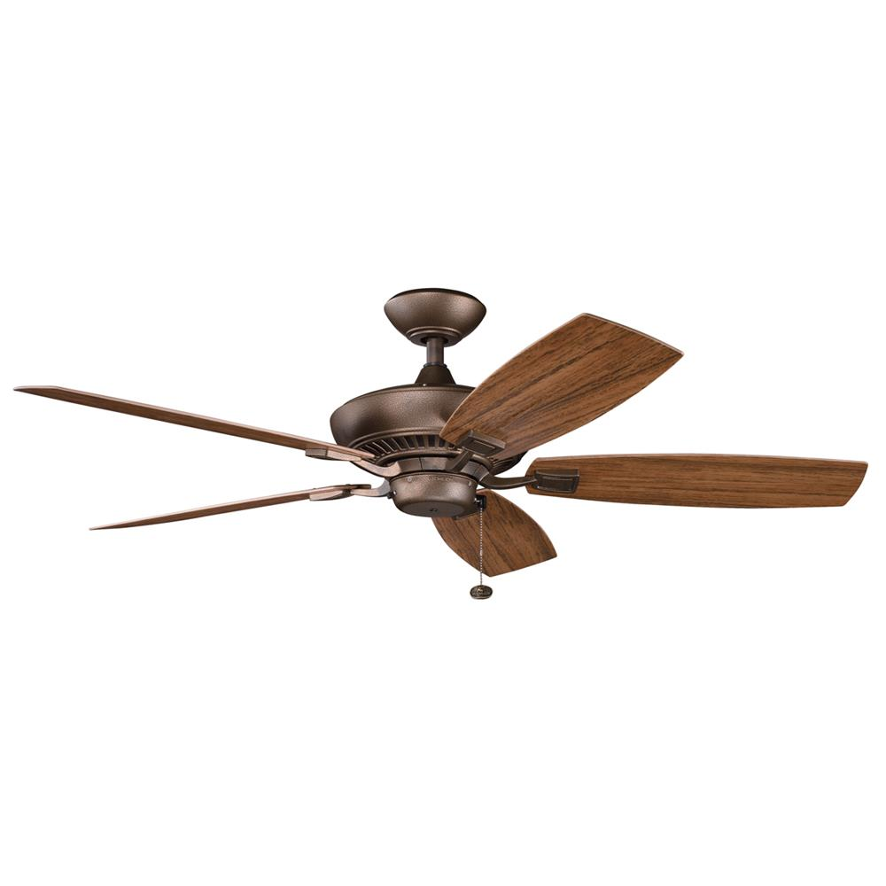 Kichler BUILDER FANS 310192WCP 52 Inch Canfield Patio Fan in Weathered Copper Powder Coat