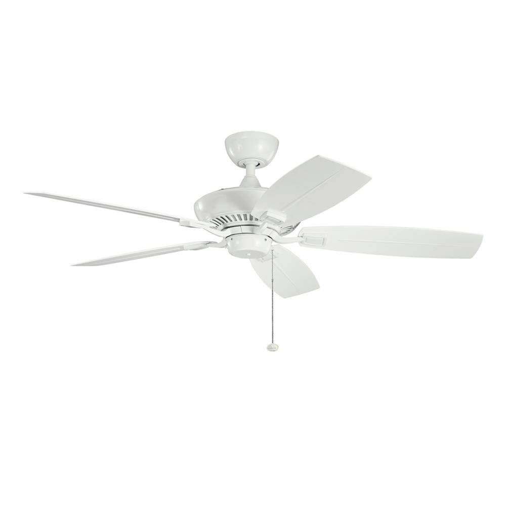 Kichler BUILDER FANS 310192WH 52 Inch Canfield Patio Fan in White