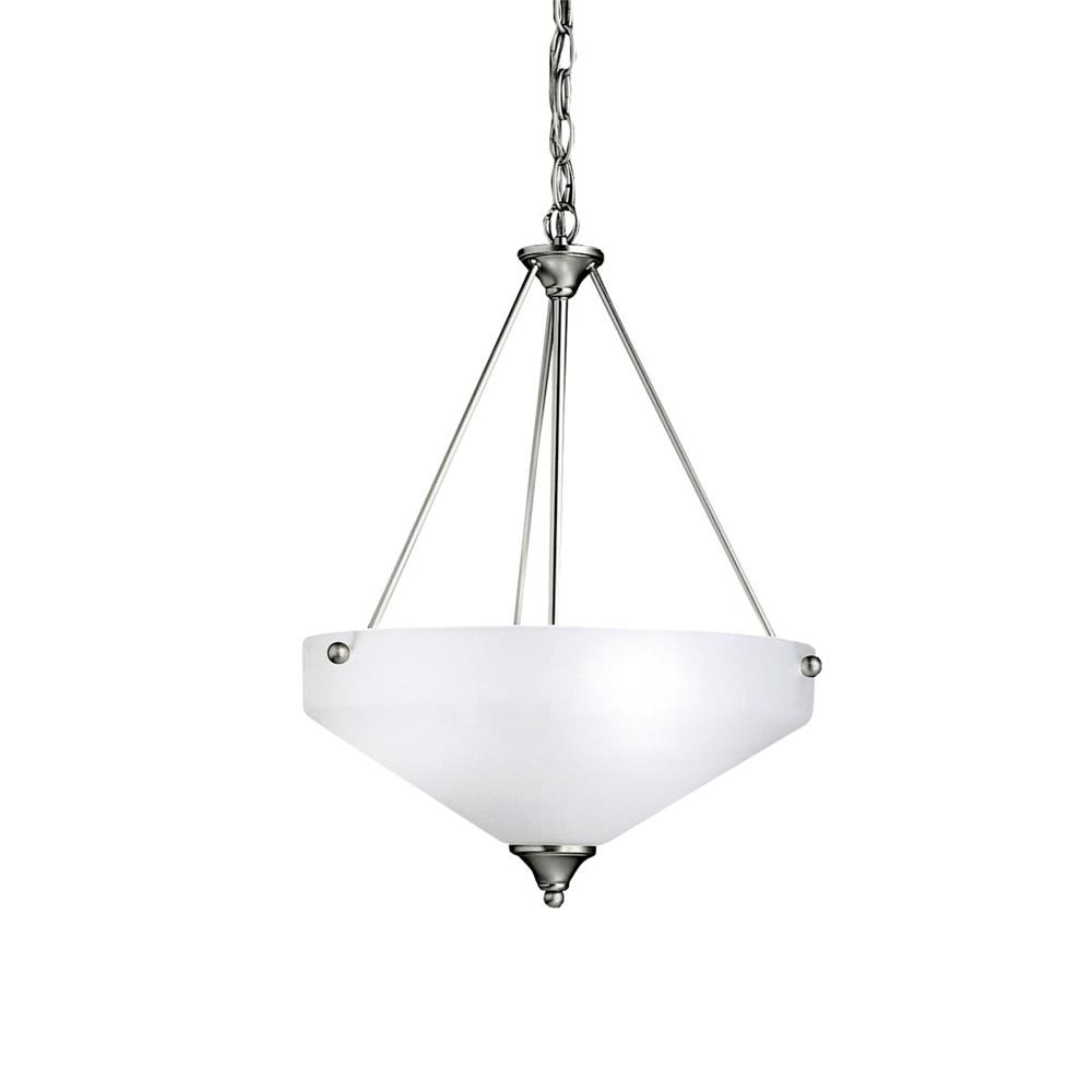 Kichler BUILDER 3347NI Inverted Pendant 3 Lt in Brushed Nickel