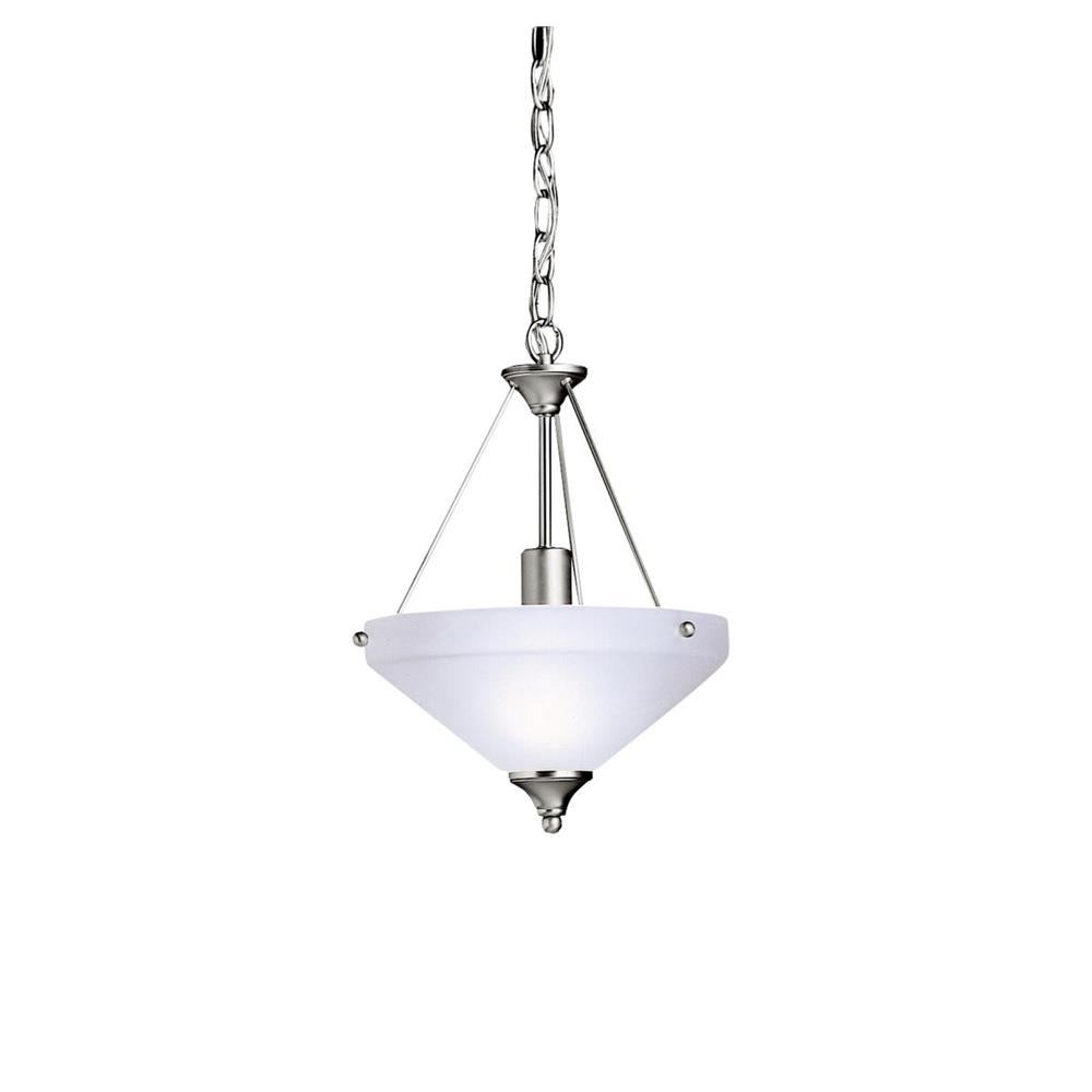 Kichler BUILDER 3348NI Semi Flush/Inv Pendant 1 Lt in Brushed Nickel