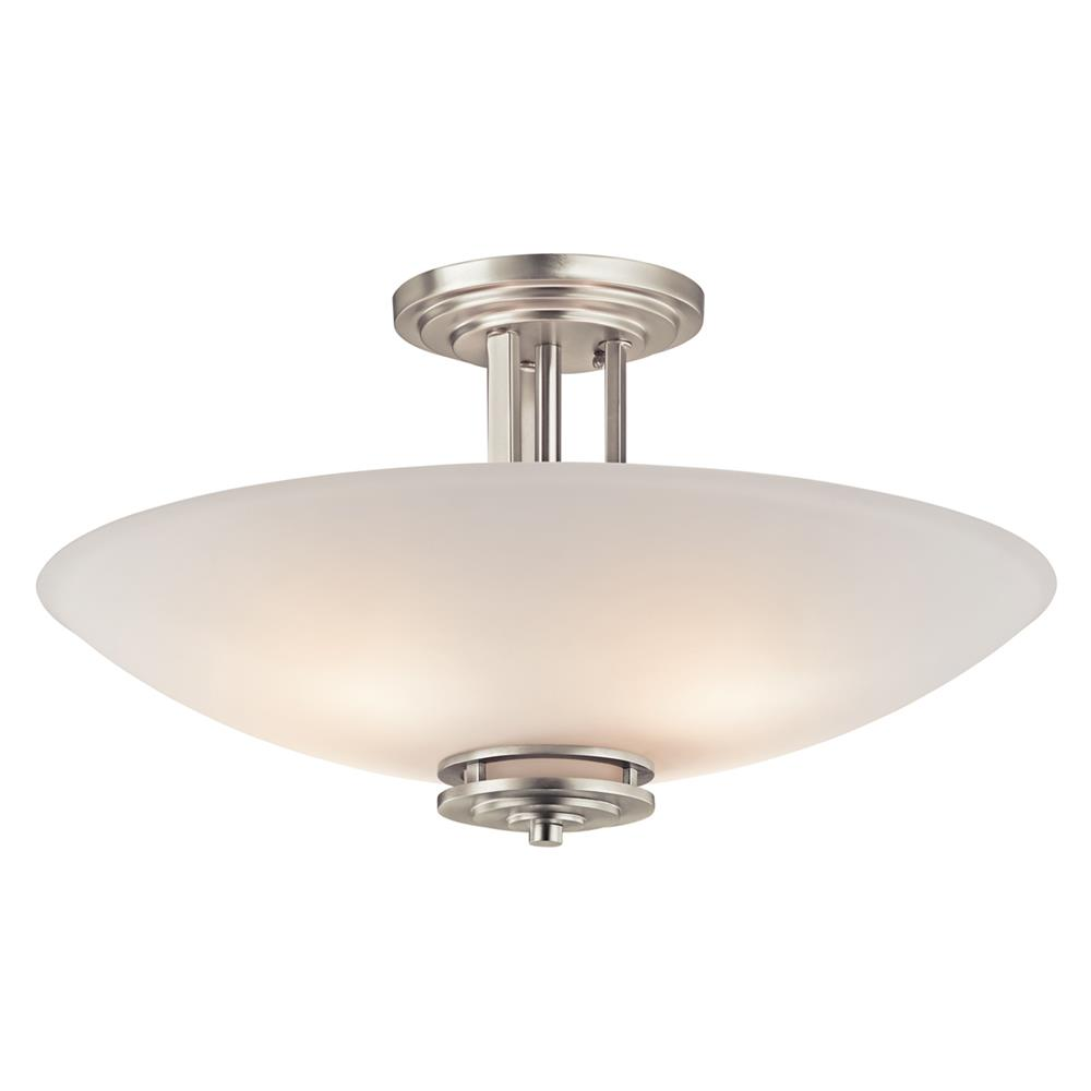 Kichler 3677NI Semi Flush 4 Lt in Brushed Nickel