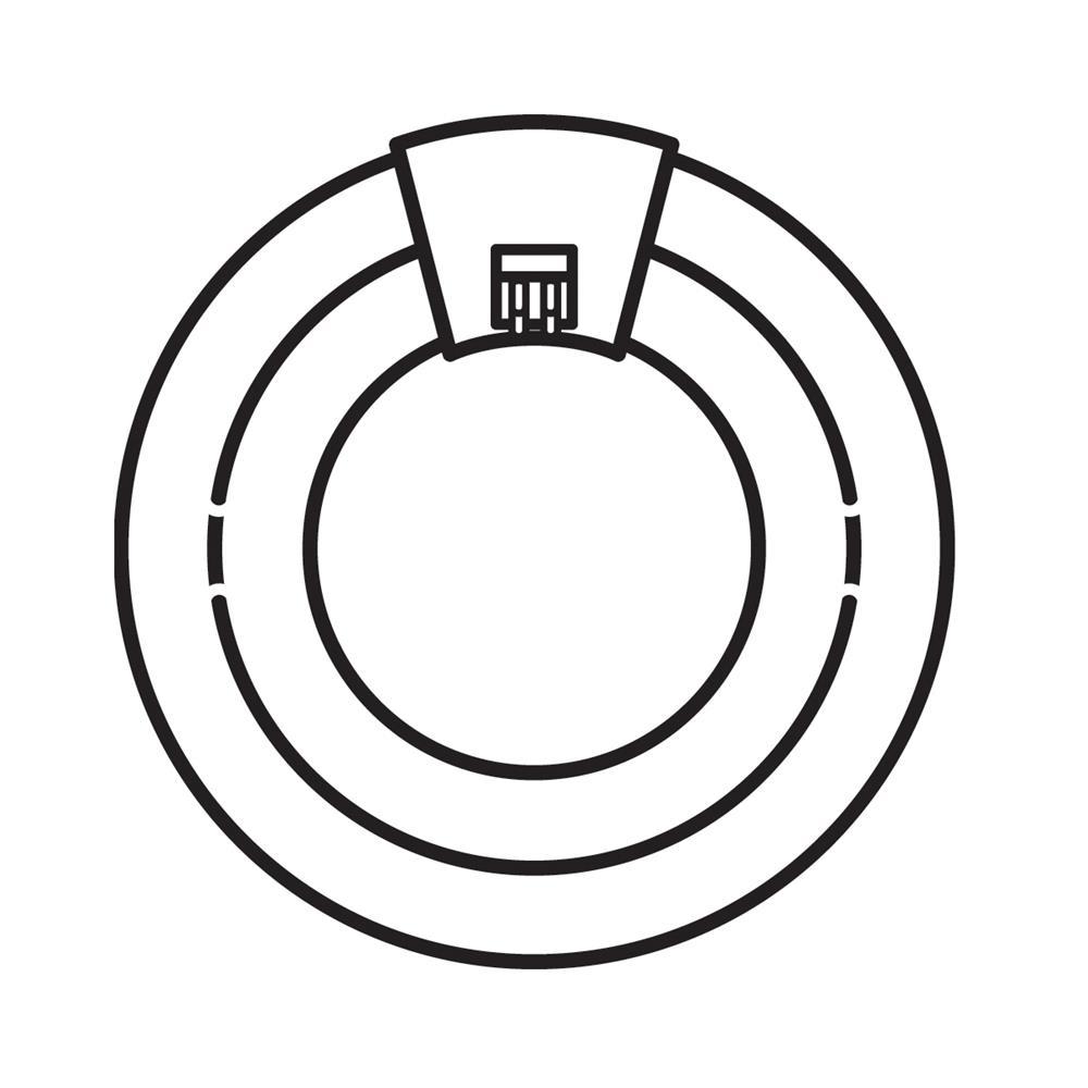 Kichler BUILDER 4028 Bulb 2CT640W Fluor Circline in White
