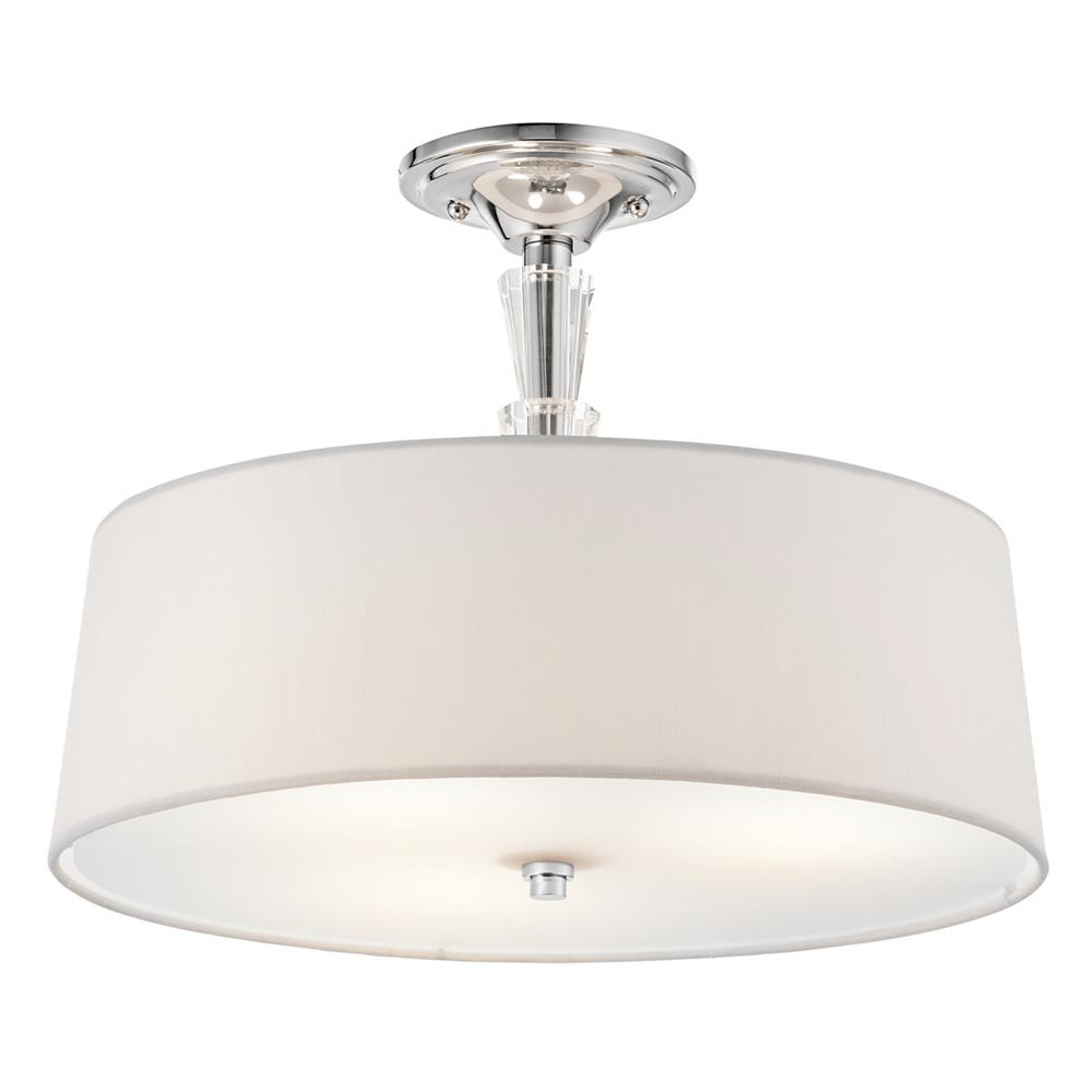 Kichler 42035CH Semi Flush 3 Lt in Chrome