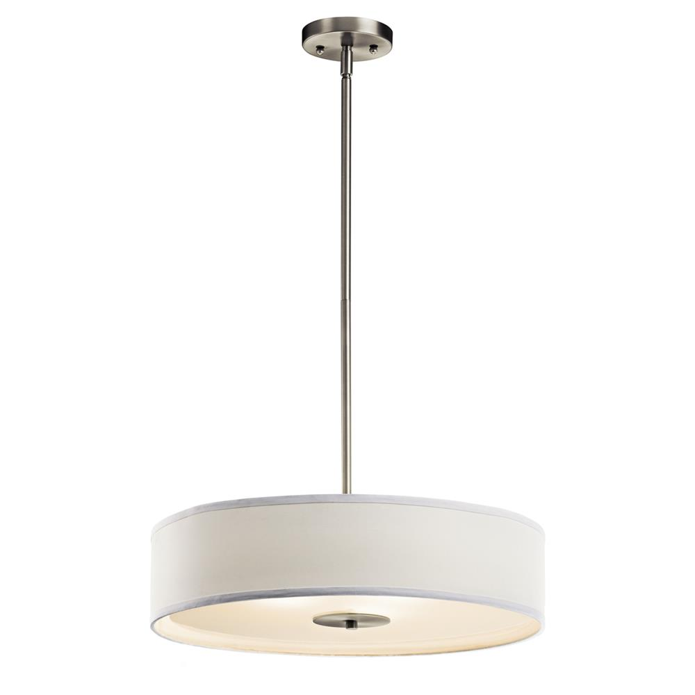 Kichler 42121NI Semi Flush/Pendant 3 Lt in Brushed Nickel