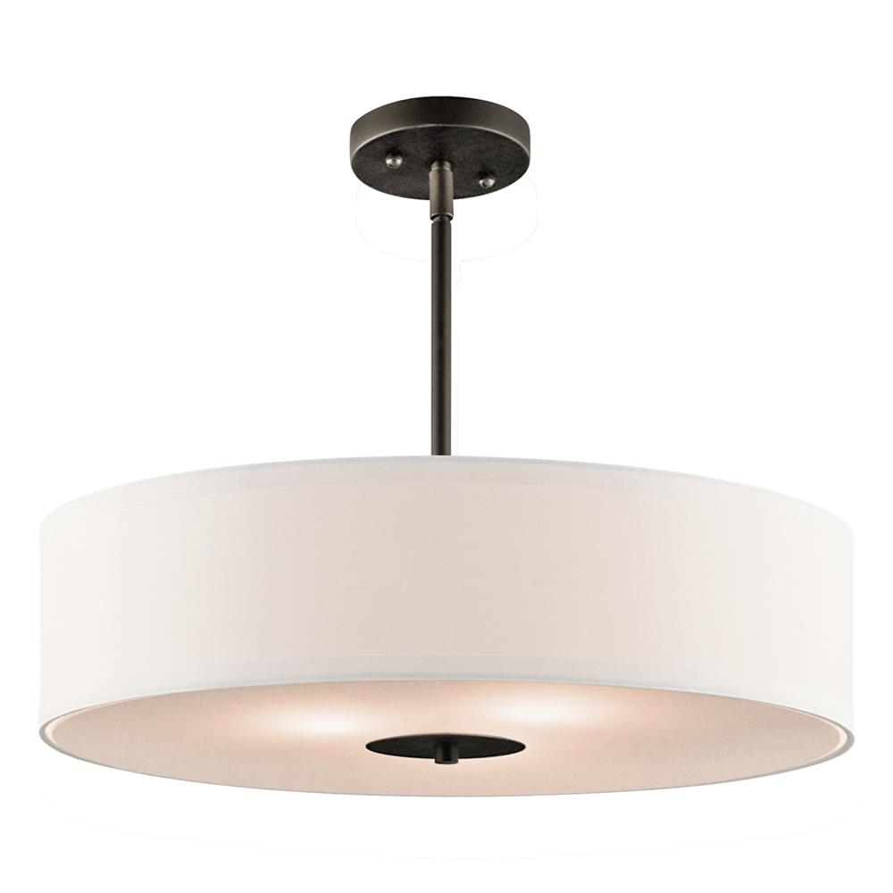 Kichler 42121OZ Semi Flush/Pendant 3 Lt in Olde Bronze