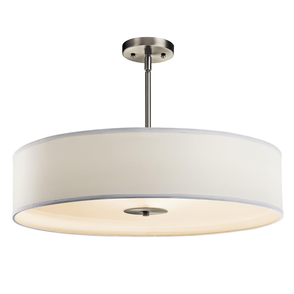 Kichler 42122NI Semi Flush/Pendant 3 Lt in Brushed Nickel