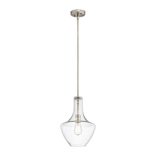 Kichler 42141NICS Everly Pendant 1Lt in Brushed Nickel